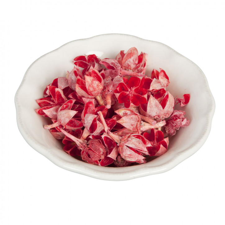 Dekoware Blüten rot 30 Gramm