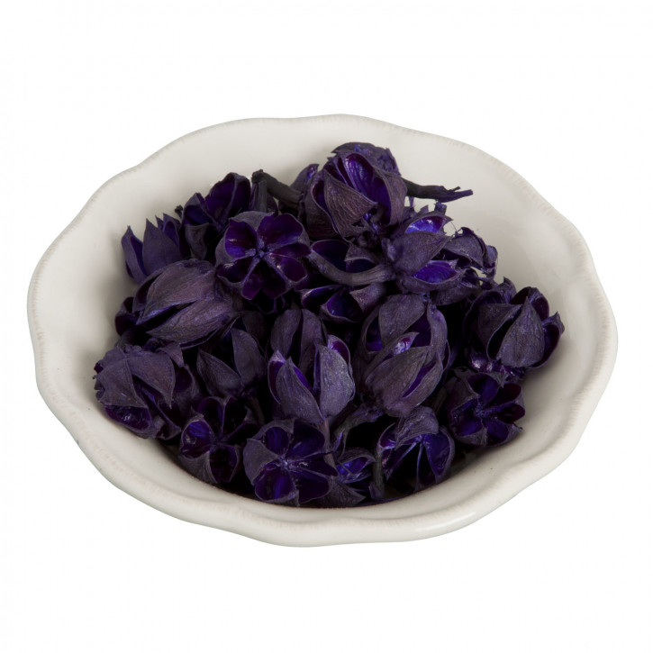 Dekoware Blüten dunkel-lila 30 Gramm