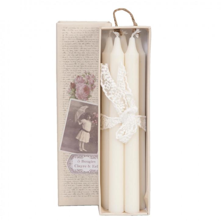 Kerzen-Schachtel inkl. Kerzen in weiß