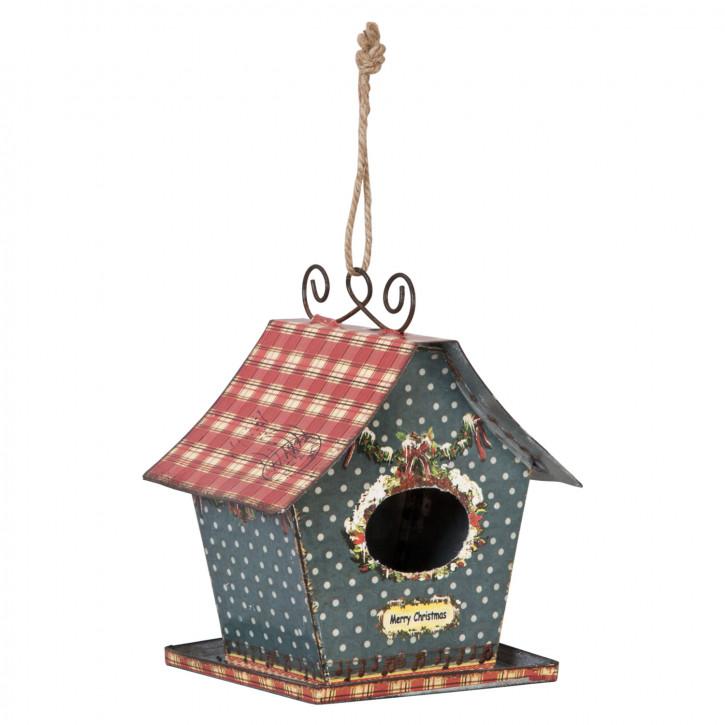 Vogelhaus Merry Christmas Bunt zum Aufhängen ca. 15 x 12 x 18 cm
