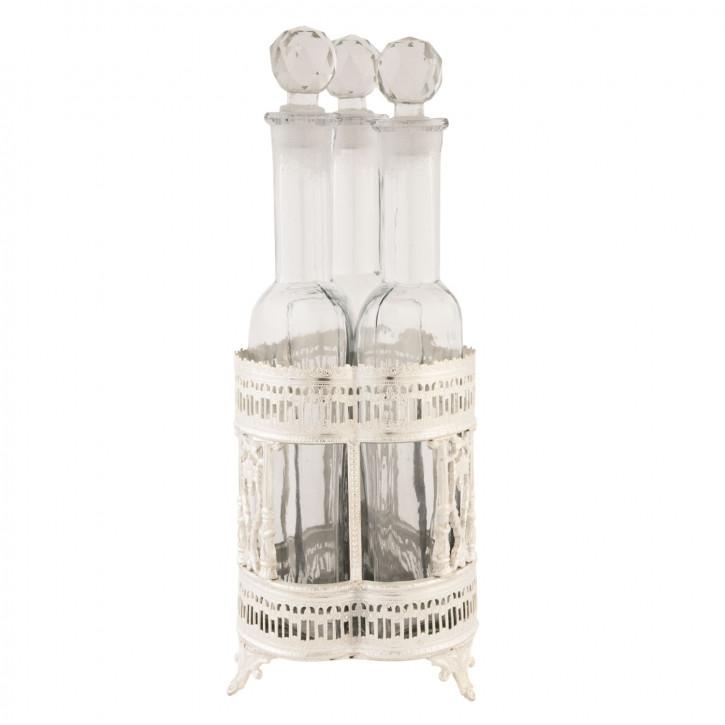 Flaschenhalter mit Flaschen ca. Ø 12 x 13 cm