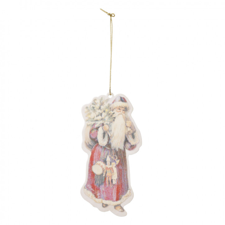 Etikett Anhänger Baum Deko Weihnachtsmann 6er Set ca. 6 x 12 cm