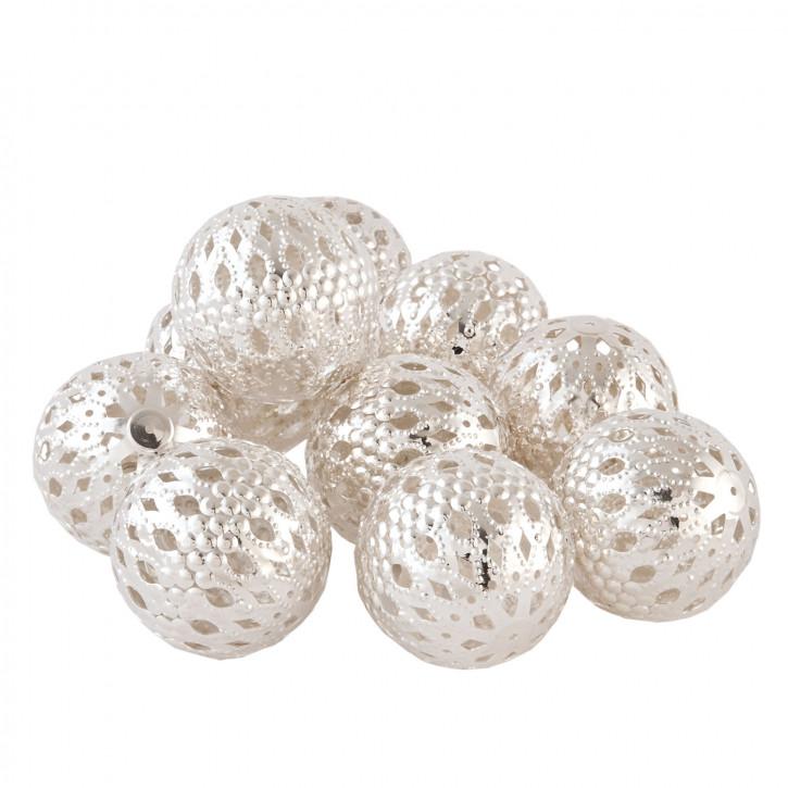 Perlen mit Muster im 10er Set