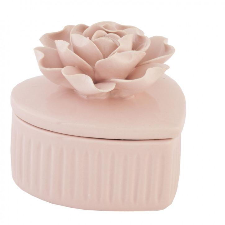 Schatulle Rose Rosa ca. 7 cm