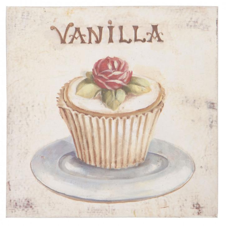 """Bild """"Vanilla"""" 20*20*1,5cm"""