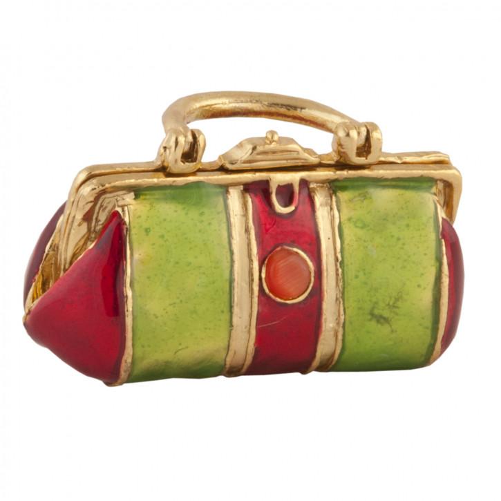 Schatulle Handtasche Goldfarbig ca. 6 x 3 x 5 cm