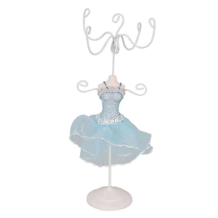 Schmuckständer Kleid Blau ca. 16 x 8 cm