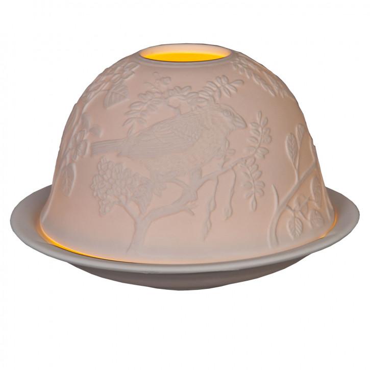 Teelichthalter Windlicht Weiß ca. Ø 12 x 9 cm