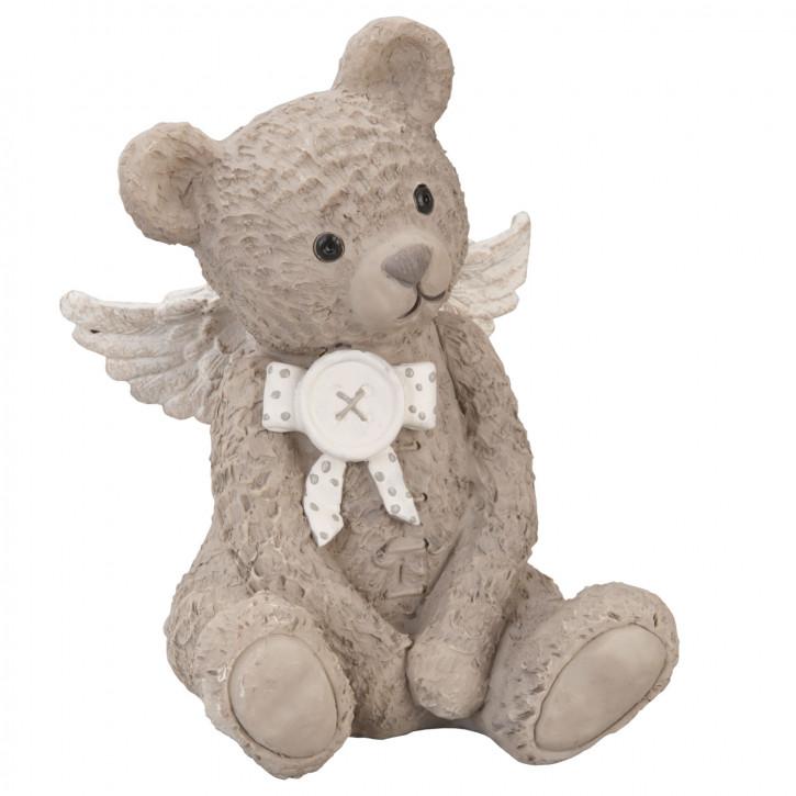TEDDY Bär sitzend hellbraun mit Engelflügel ca. 9 x 9 x 13 cm