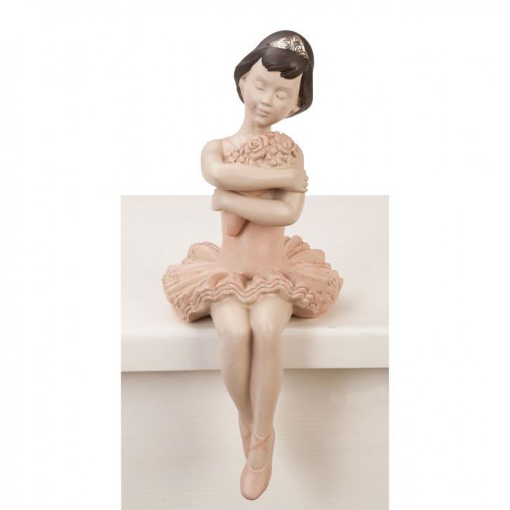 Figur Ballerina sitzend ca. 12 x 11 x 26 cm