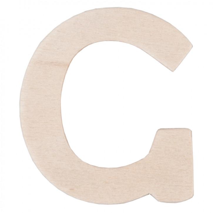 Holzbuchstabe 3er Set C ca. 4 cm