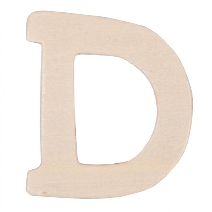 Holzbuchstabe 3er Set D ca. 4 cm