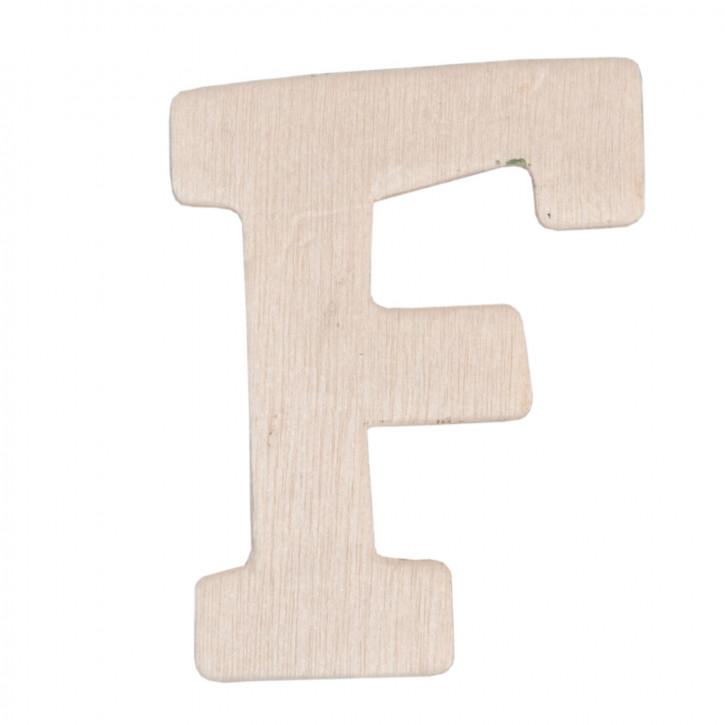 Holzbuchstabe 3er Set F ca. 4 cm