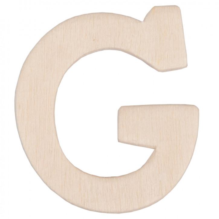 Holzbuchstabe 3er Set G ca. 4 cm