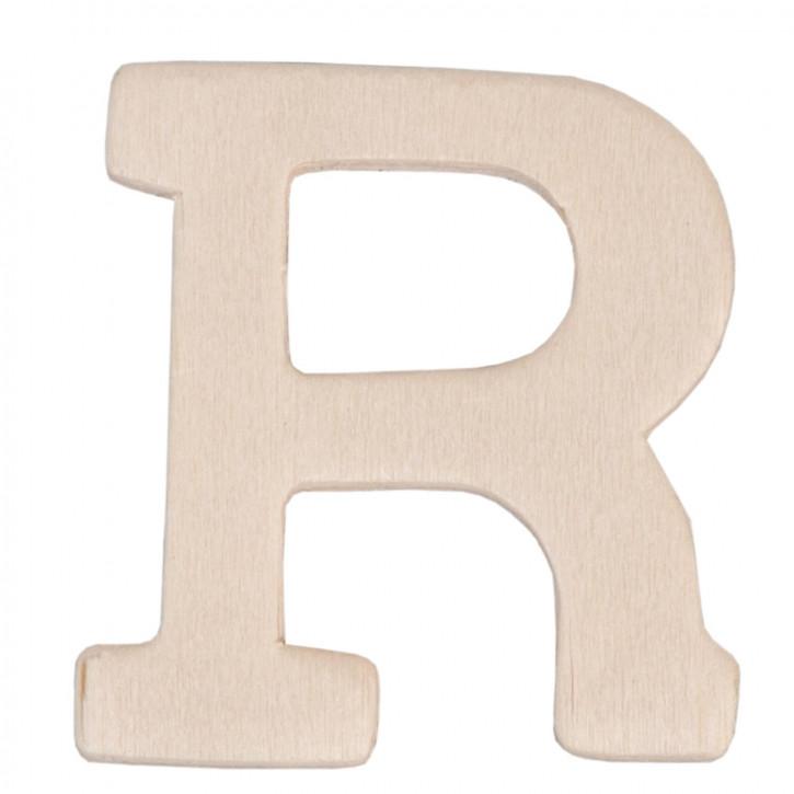Holzbuchstabe 3er Set R ca. 4 cm