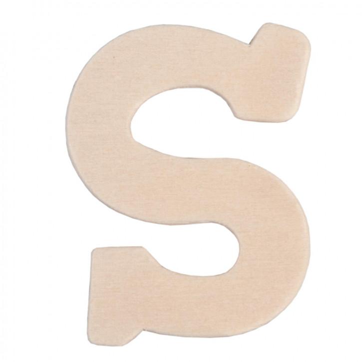 Holzbuchstabe 3er Set S ca. 4 cm