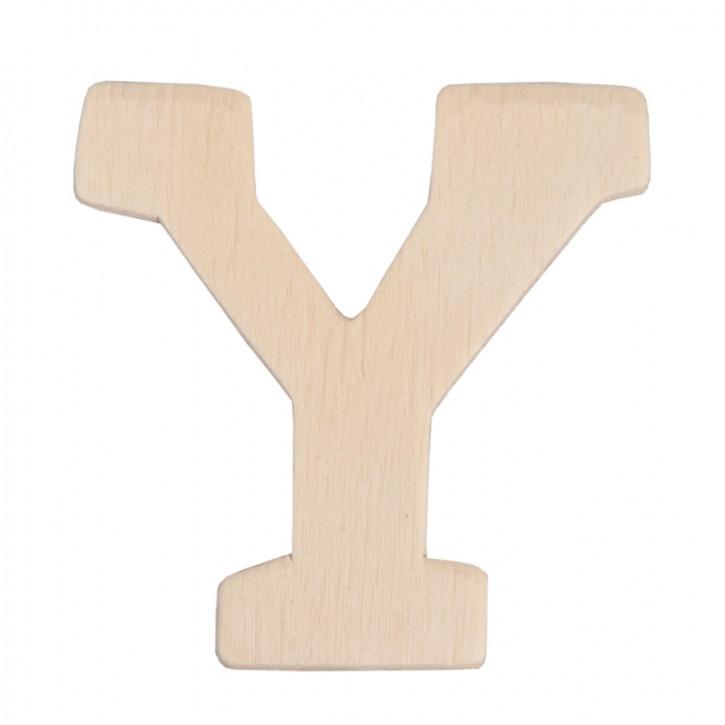 Holzbuchstabe 3er Set Y ca. 4 cm