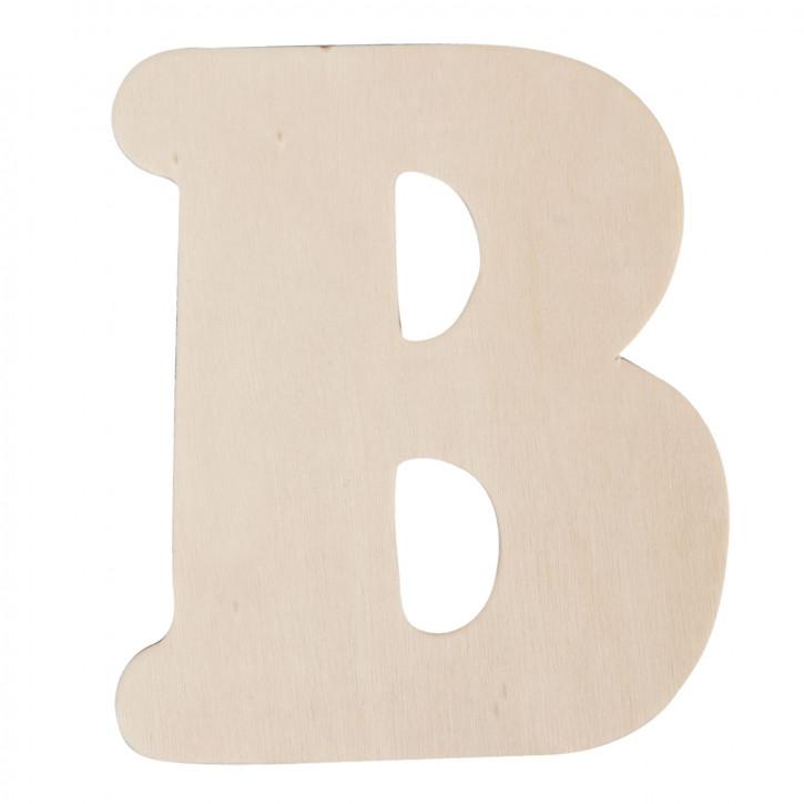 Holzbuchstabe B ca. 11 cm