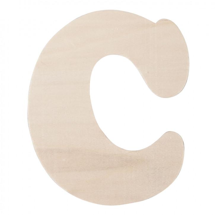 Holzbuchstabe C ca. 11 cm