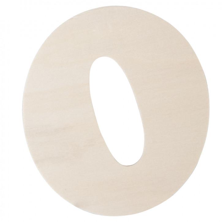 Holzbuchstabe O ca. 11 cm