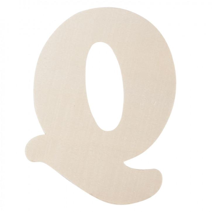 Holzbuchstabe Q ca. 11 cm