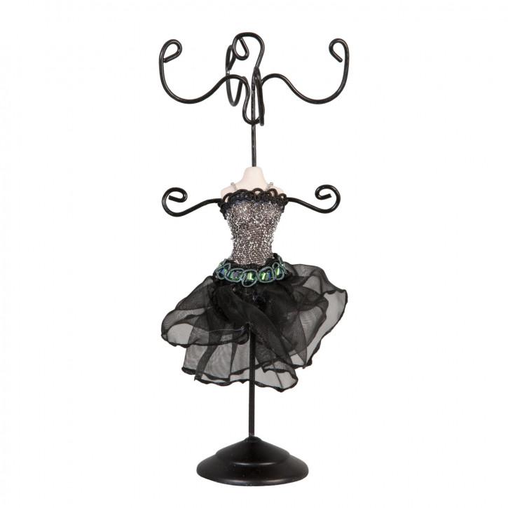 Schmuckständer Kleid schwarz ca. 11 cm