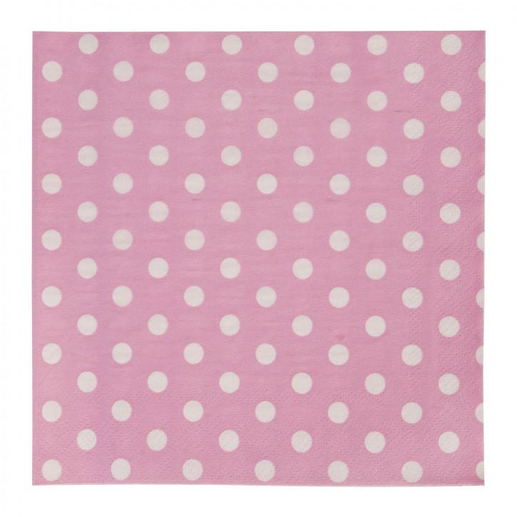 Servietten (20Stück) rosa ca. 16 x 16 cm