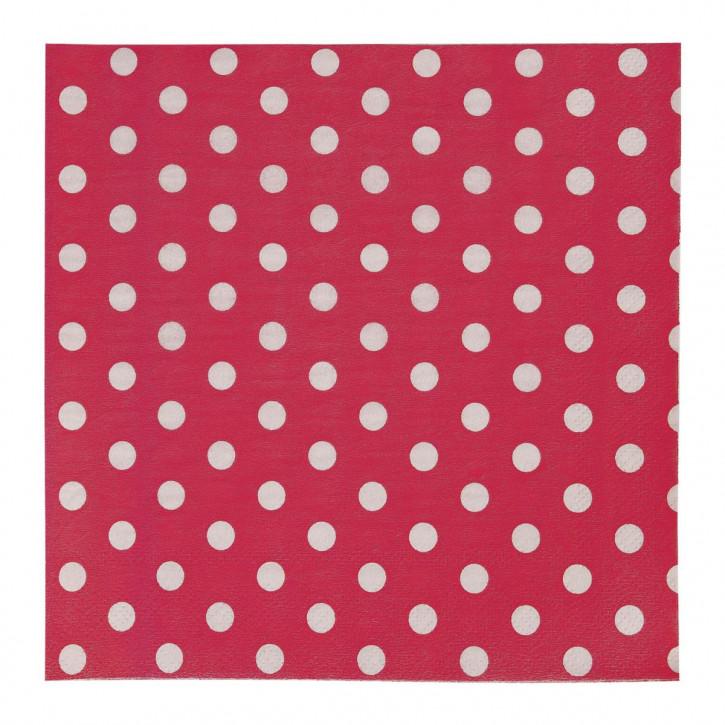Servietten (20Stück) rot ca. 16 x 16 cm