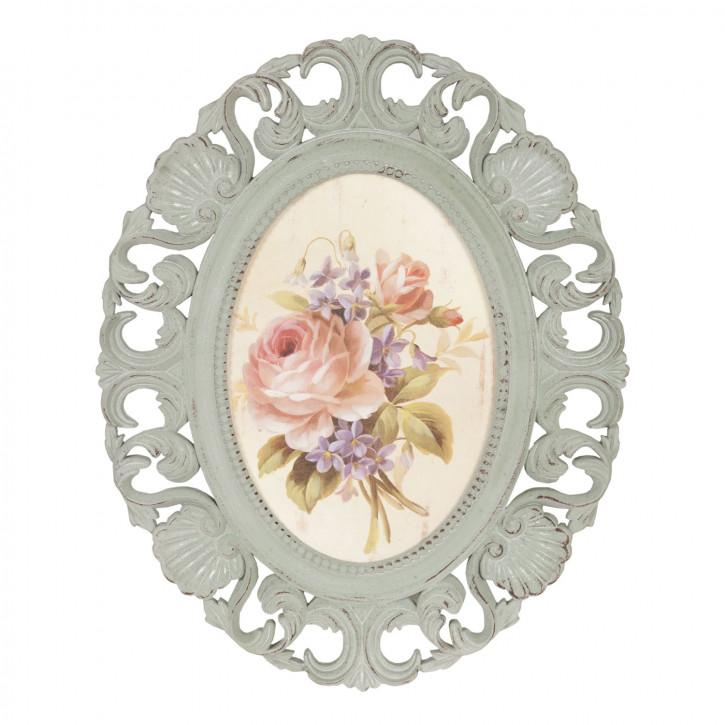 Bild Teller Blumen ca. 54 x 43 x 2 cm