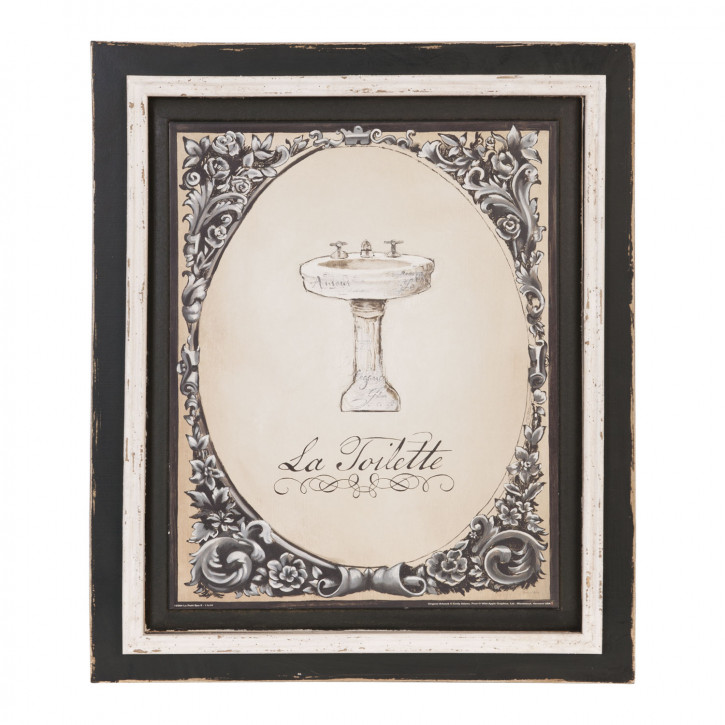 Bild La Toilette ca. 39 x 46 x 2 cm