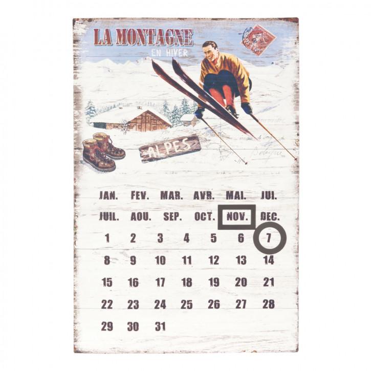 Dekoration Kalender Dauerkalender La Montagne ca. 24 x 36 cm