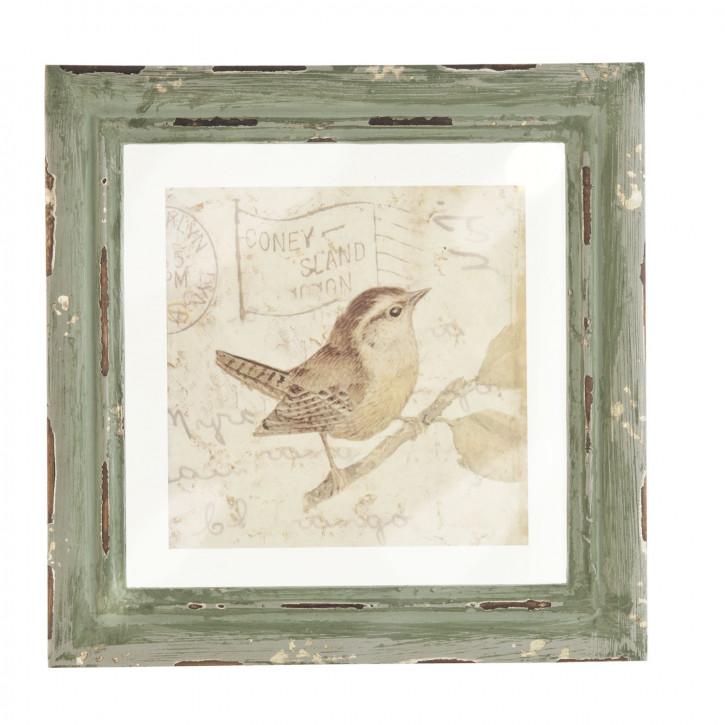 Bild Vogel ca. 23 x 23 x 2 cm