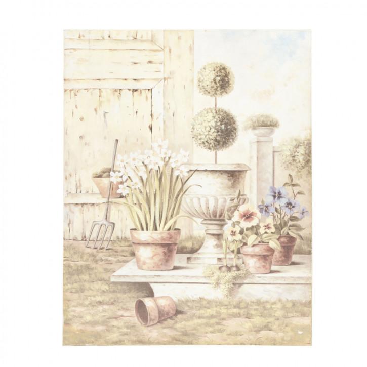 Wandbild Blüme 45 x 35 x 3 cm