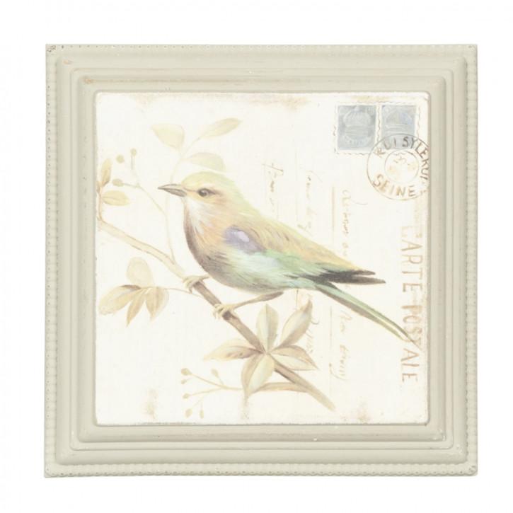 Dekoration Bild Vogel ca. 26 x 26 x 3 cm