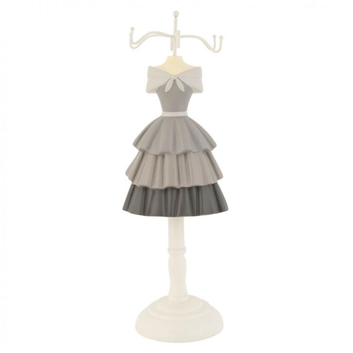 Schmuckständer Kleid grau ca. 10 x 8 x 30 cm