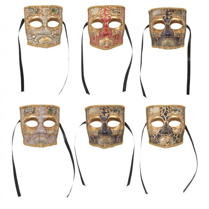 Decoration mask (6) 16 x 12 x 17cm