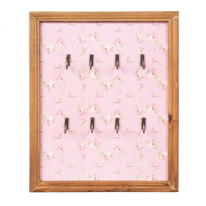 Schlüsselbrett rosa ca. 26 x 3 x 32 cm