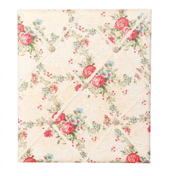 Pinnwand Stoff Blumen ca. 46 x 4 x 53 cm