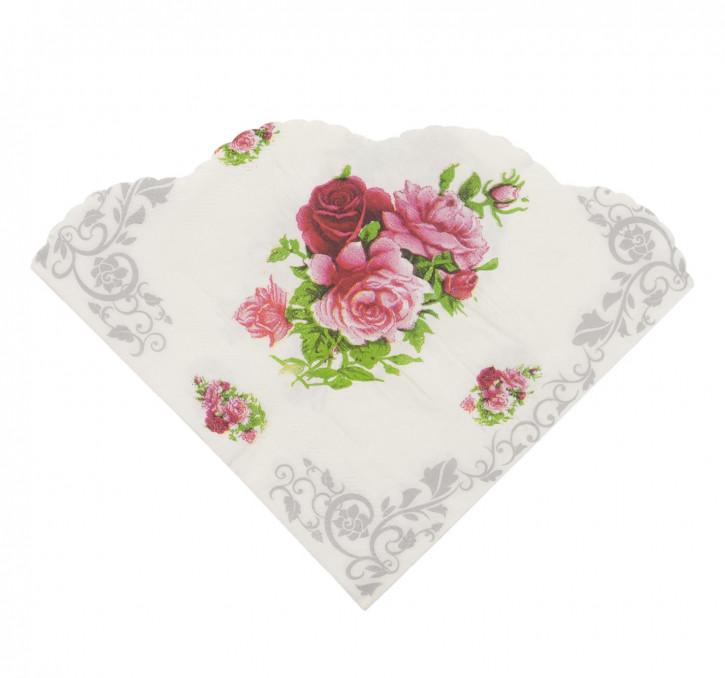 Papierservietten (20 Stück) Blumen ca. 16 x 16 cm
