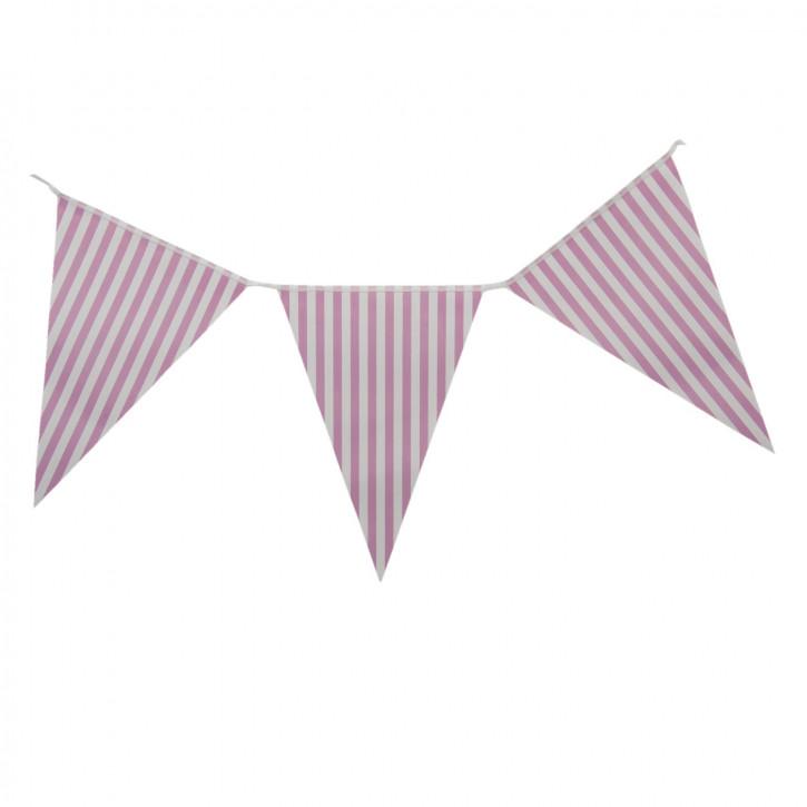 Girlande Papiergirlande Fahne Fähnchen Streifen