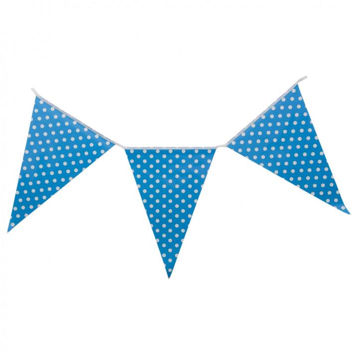 Girlande Papiergirlande Fahne Fähnchen Punkte