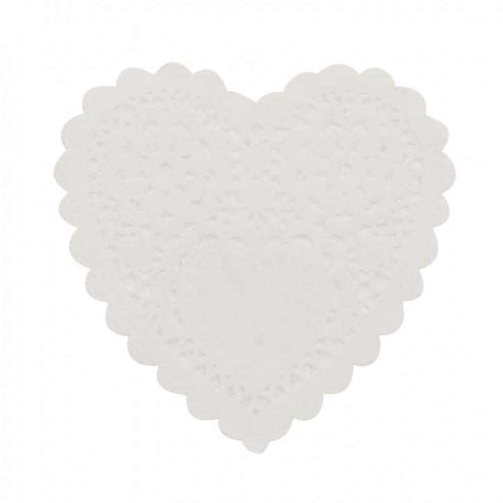 Untersetzer Glasuntersetzer Papier (200 Stück) herzförmig weiß ca. 5 cm