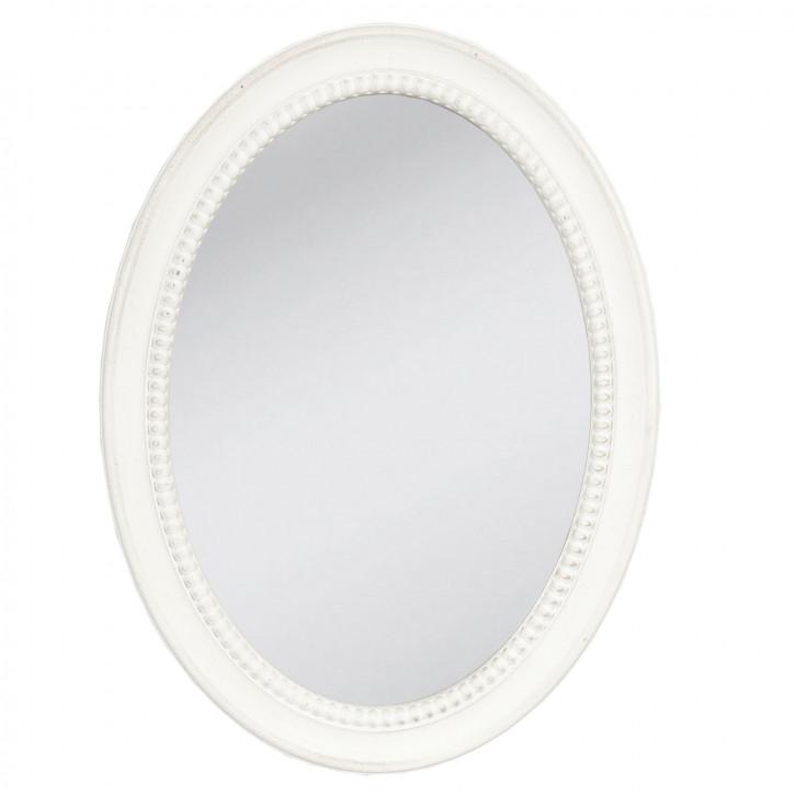 Spiegel Wandspiegel oval weiß ca. 29 x 38 cm