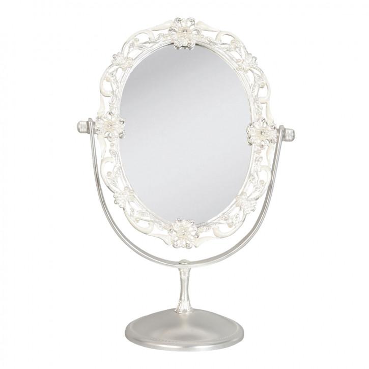 Standspiegel Schminkspiegel silberfarbig ca. 18 x 10 x 26 cm
