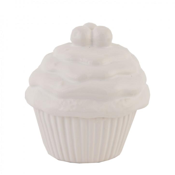 Vorratsdose Muffin Weiß ca. Ø 8 x 8 cm