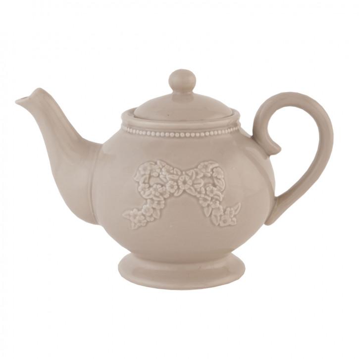Teekanne Schleife ca. 23 x 14 x 15 cm