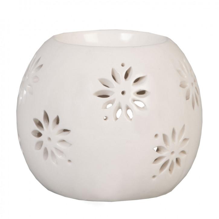 Duftlampe aus Keramik Kugel weiß ca.  8 x 8 cm