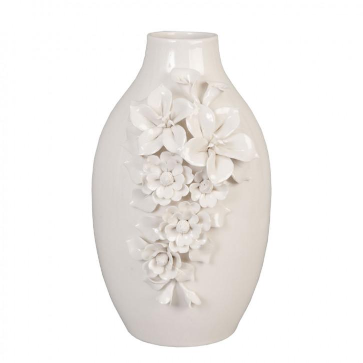 Vase Blumenvase weiß ca. 29 cm