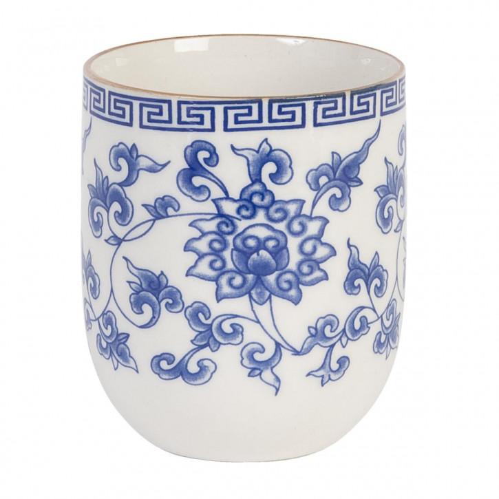 Becher Blau ca. Ø 6,5 x 8 cm