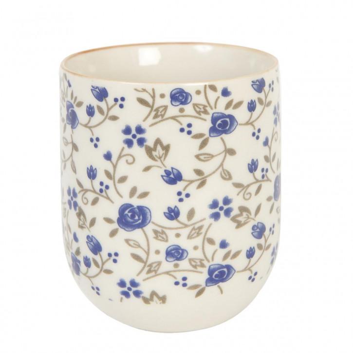 Becher kleine blaue Blumen ca. Ø 6,5 x 8 cm